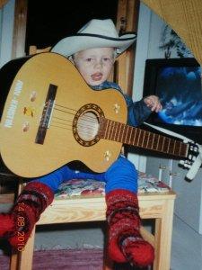 Patr. coboy med gitar